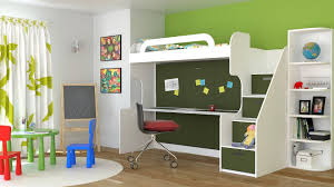 Kids Bunk Beds With Desk  Cute Interior And Kids Loft Bed With - Kids bunk bed desk