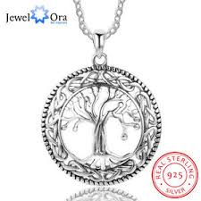 sted necklaces tree of pendant charm jewelry sterling 925 silver gift for