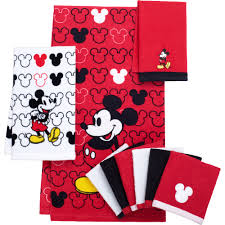 Christmas Towels Bathroom Mickey Mouse Decorative Bath Collection 6 Pack Washcloth