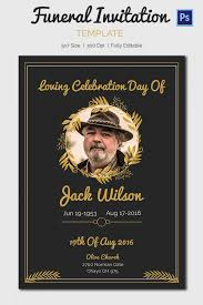 sle funeral programs wording funeral invitation template themesflip