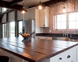 Wood Tops For Kitchen Islands Reclaimed Wood Island Tops Kitchen Islands Plank Inside Top