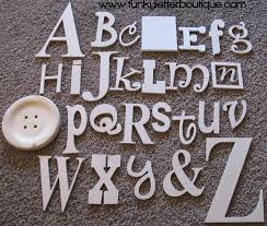 the funky letter boutique diy wooden letters and home decor