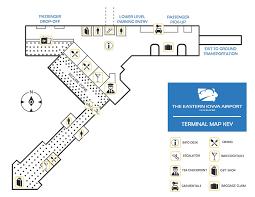 Airport Terminal Floor Plan by Terminal Map The Eastern Iowa Airport Cid