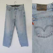 Levis 582 Comfort Fit Jeans Levis 412 Orange Tab Jeans Light Blue Stonewash Denim Pants