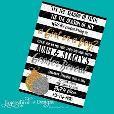 personalized christmas silver and gold black and white or boy