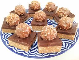 ferrero rocher chocolate hazelnut slice bake play smile
