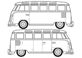 hippie volkswagen drawing vw campervan colouring book vw camper vans colouring pages page