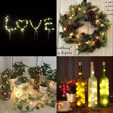 Christmas Tree Wine Bottles Amazon Com Wine Bottle Lights With Cork Led Cork Lights For