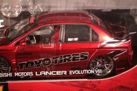 mitsubishi lancer evolution fast and furious jada toys mitsubishi motors lancer evolution viii import racer 1