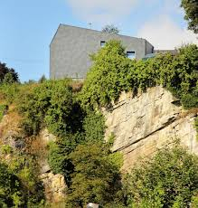 Houses For Narrow Lots Narrow Lot Uses Modern Fortress Wall For Privacy From Street