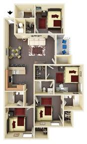 bathroom floorplans off campus wvu housing 4 bedroom 4 bath floorplan west run