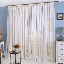 Stripe Curtain Panels Fashion Window Screening Tulle Finished Stripe Curtains For The