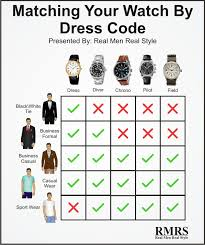 how to match a watch with your clothes dress codes and