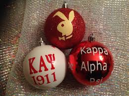 set of 3 jumbo fraternity ornaments inspired by kappa alpha psi phi