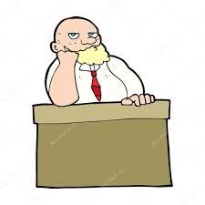ennui au bureau un homme s ennui au bureau de dessin animé image vectorielle