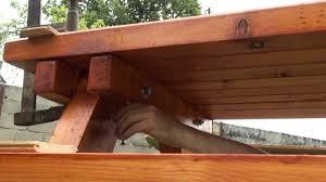 Plan De Travail Bois 3m by Bricolage Table Pique Nique Youtube