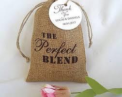 burlap party favor bags burlap wedding favor bags personalized the blend