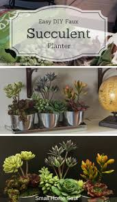 Succulent Planter Diy by Faux Succulent Planter Easy Diy Decor Small Home Soul