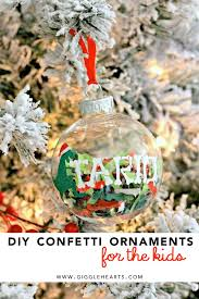 christmas ornament favors diy confetti ornaments for place cards and favors