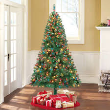 pre lit 6 5 artificial tree multicolor lights w stand
