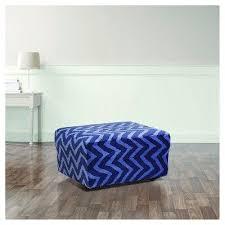 Stretch Ottoman Slipcover Stretch Plush Chevron Ottoman Slipcover Indigo Blue Sure Fit