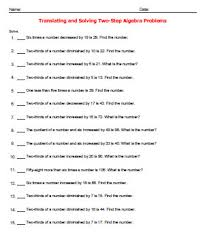 translating algebraic equations worksheet free worksheets library