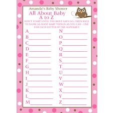 best photos of alphabet baby shower game boy baby shower games