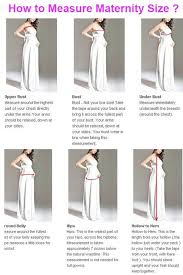 standard size chart color swatches maternity measure guide