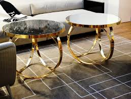 Accent Side Table Coffee Table Gold Geometric Side Table Glass Cocktail Tables Gold