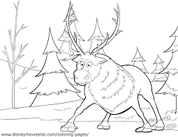 all the disney frozen characters coloring pages within free disney