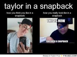 Meme Snapback - taylor in a snapback meme generator separated at birth
