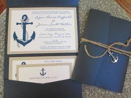 nautical theme destination wedding invitation anchor navy blue