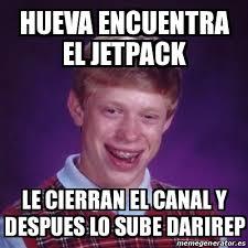 Jetpack Meme - meme bad luck brian hueva encuentra el jetpack le cierran el