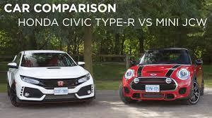 honda car comparison car comparison honda civic type r vs mini jcw driving ca