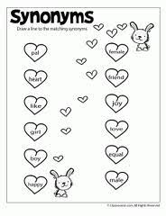 education world all about printable worksheets synonym