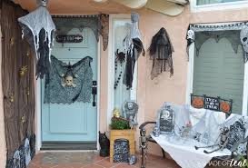 decorating the house for halloween spooky halloween front door budget finds for under 1