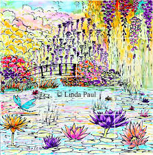 Kitchen Tile Murals Backsplash Monet Water Lily Garden Tile Mural Kitchen Backsplash