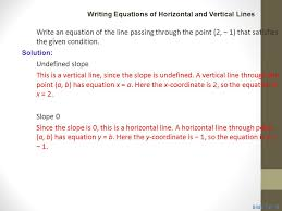 classroom example 4 writing equations of horizontal and vertical lines