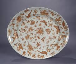 butterfly platter export porcelain platter in sacred bird butterfly