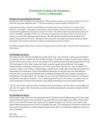 resume for a exle resume templates coach exles baseball coach resume exle