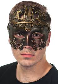 men s masquerade mask antique bronze men s masquerade mask bronze centurion men s mask