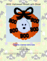 halloween wreath with ghost plastic canvas kits com