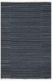 Modern Flat Weave Rugs Modern Charcoal Blue Flatweave Rug With Fringe Woodwaves