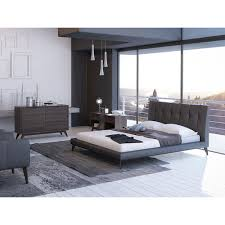 Leather Upholstered Bed Morea Genuine Leather Bed By Ital Contempo Available In Queen