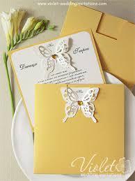 handmade wedding invitations aida wedding invitation yellow violet handmade wedding invitations