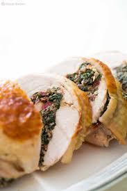 thanksgiving dinner turkey breast chard and prosciutto stuffed turkey breast recipe simplyrecipes com
