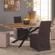 Natural Wood Dining Room Sets Coaster Galloway Dining Table In Rustic Natural Wood Finish