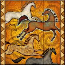 Kitchen Tile Murals Tile Art Backsplashes by Southwest Horse 6 By Dan Morris Kitchen Backsplash Bathroom