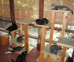 homemade cat tower design supplies for the building of a