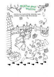 english teaching worksheets recycling